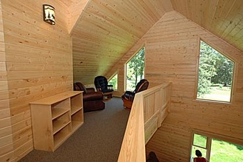 Interior of Cabin at  Half Moon Trail