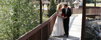 Wedding bridge at Cove Haven Resort.