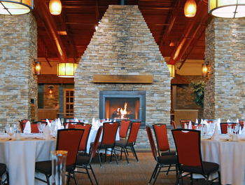 Lodge seating at Bear Creek Mountain Resort.