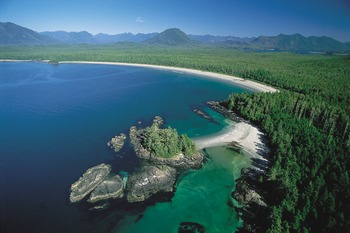 Arial View at Clayoquot Wilderness Resort