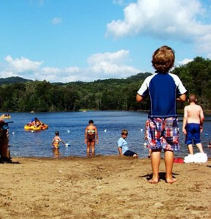 Swimming at Old Forge Camping Resort
