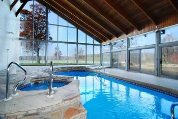 Rental indoor pool at Railey Mountain Lake Vacations.