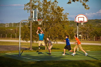 Basketball court at Purple Sage Ranch.