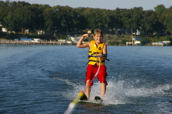 The kids will love water-skiing at West Lake Okoboji!