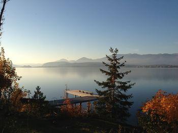 Lake view at Sleep's Cabins.