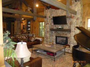 Rental Interior at Mountain Memories Cabin Rentals