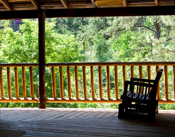 Lodge Porch at Hisega Lodge