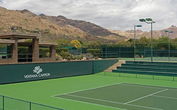 Tennis court at The Lodge at Ventana Canyon.