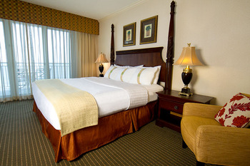 King suite at Holiday Inn Suites Ocean City.