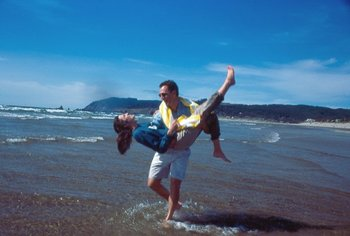 Couple at Hallmark Resort in Cannon Beach
