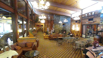 Lobby view at Rocking Horse Ranch Resort.