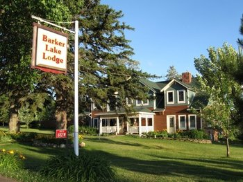 Exterior view of Barker Lake Historic Lodge.