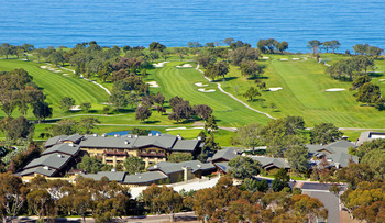 Aerial view of The Lodge at Torrey Pines
