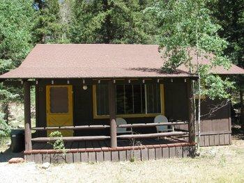 Cabin exterior at Harmels Ranch Resort.