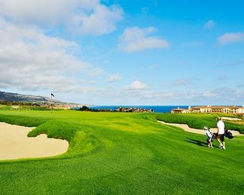 Golf course at Terranea Resort.
