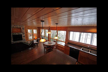 Cabin interior at Lakeview Resort on Grindstone.
