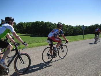 Biking near Parkwood Lodge.