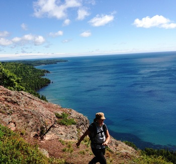 Hiking at Inn on Lac Labelle.