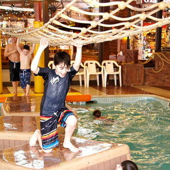 Indoor water park at Rocking Horse Ranch.