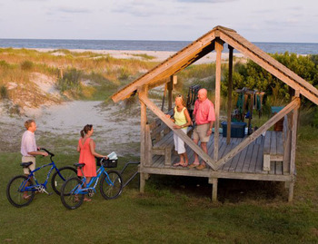 The beach gazebo at Lodge on Little St. Simons Island.