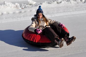 Snow tubing at Rocking Horse Ranch Resort.