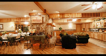 Meeting room at Smoke Hole Caverns & Log Cabin Resort.