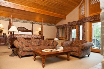 Cottage interior at The Couples Resort.