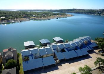 Aerial view of Lake Travis & Co.