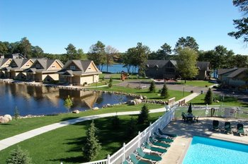 External view of Kavanaugh's Sylvan Lake Resort.