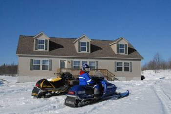 Snowmobiling at S & J Lodge