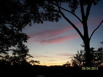 Sunset at Pinecrest Camp Lodge.