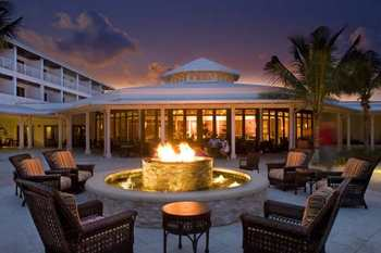 Fire pit at Hawk's Cay Resort.