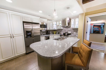 Guest kitchen at Holiday Inn Club Vacations Galveston Beach Resort.