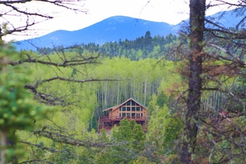 Cabin exterior at Resort Properties of Angel Fire.