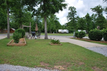 Campsite at Gulf Pines RV Park.
