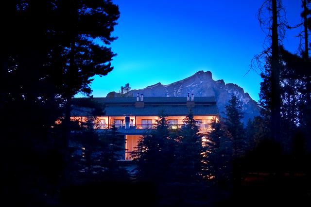 Exterior view of Douglas Fir Resort & Chalets.