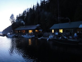 Exterior view of Blackfish Lodge.