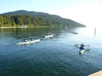 Water activities at West Beach Resort.