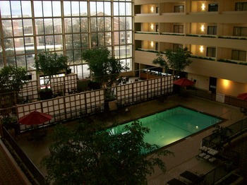 Indoor pool at Atrium Hotel and Suites DFW Airport South.