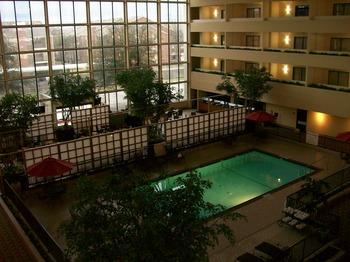 Indoor pool at Atrium Hotel and Suites DFW Airport South.