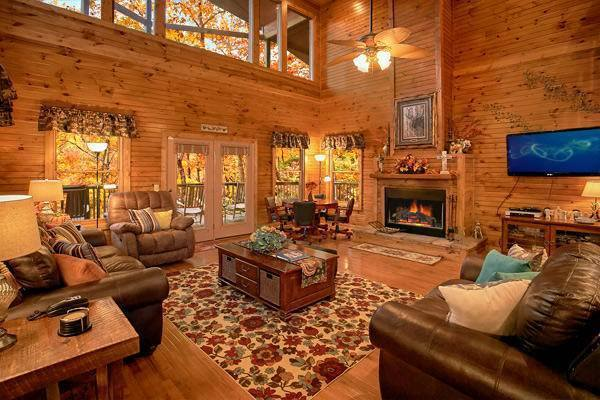 Cabin kitchen at Timber Tops Luxury Cabin Rentals.