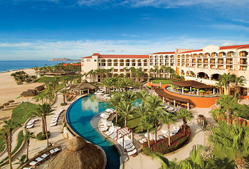 Aerial view of Hilton Los Cabos Resort.