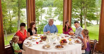 Dining at Woodloch Resort.