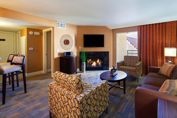Guest living room at Holiday Inn Club Vacations at Desert Club Resort.