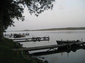Docks at Red Cedar Springs Resort.