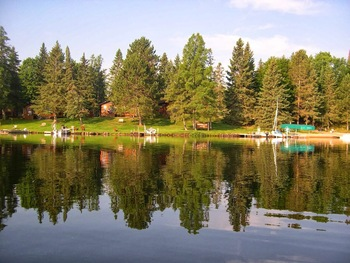 Lake view at Vacationland Resort.