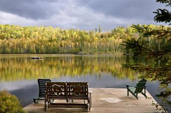 Lake view at Bearskin Lodge.