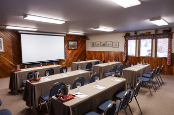 Conference room at Izaak Walton Inn.