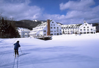 Skiing at Waterville Valley Resort.