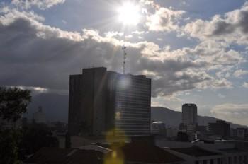 View from balcony at La Amistad Inn.